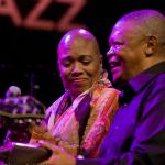 Hugh Masekela's 70th Birthday Concert  guest performance of Dee Dee Bridgewater foto Hans Speekenbrink