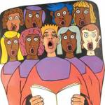 Ennio Marchetto als een gospelkoor