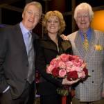 Simone Kleinsma met André van Duin en Gerard Cox